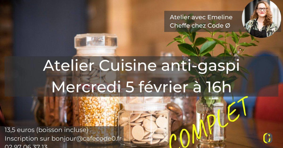 atelier cuisine code 0